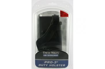 Uncle Mike's Slimline PRO-3 Holster, Basketweave Black, Left Hand, Glock 17, 19, 22, 23, 31
