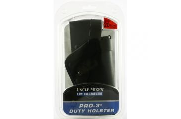 Uncle Mike's Slimline PRO-3 Holster, Mirage Plain, Right Hand, Beretta 9mm, .40, S&w 10mm, .45