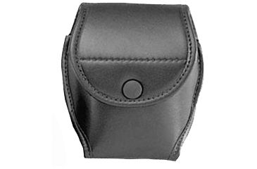 Uncle Mike's Double Cuff Case Matte Black Leather Snap Button Closure 88571