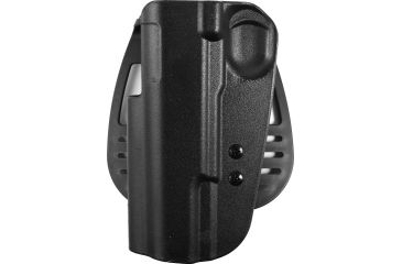 Uncle Mike's Kydex Open Top Paddle Holster, Black, Left Hand - 5-inch BBL 1911 Type Pistols - 5419-2