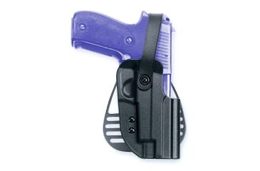 Uncle Mikes Kydex Paddle Holster w/Thumb Break, Black, Left Hand - Beretta 92/96 - 5620-2