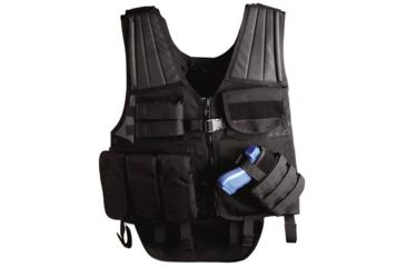 Uncle Mike's Law Enforcement Cross Draw Tactical Entry Vest - Black or OD Green, 7702210, 7702211, UM Law Enforcement Entry Vest colors Uncle Mike's LE Tactical Cross Draw Entry Vest - Black