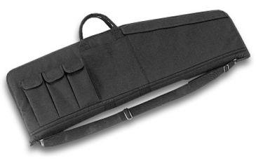 Uncle Mike's Law Enforcement Tactical Rifle Case, 33x10in w/ 3 Magazine Pouches - Black - 52121