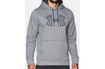Under Armour Big Logo Hoodie - Men s-True Gray Heather Stealth Gray Stealth 041c4b51c790