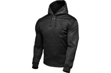 UnderArmour Men's ColdGear Embossed Performance Hoody - Black Color 1006265-001