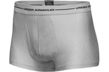 8332df05f Under Armour Men s HeatGear 3   Short Boxer Jock - Medium Heather Grey Color  1000666