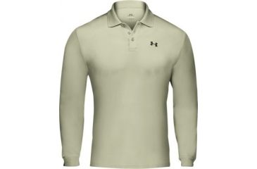 Under Armour Men's HeatGear Longsleeve Performance Polo - Desert Color 1000491-290