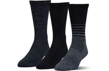 e4b7e6b2d Under Armour Mens Phenom Twist Crew Socks, Black / Assorted, 9-11 Medium