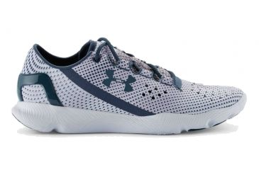 another chance 85a0a fcbf9 Under Armour SpeedForm Apollo Pixel Road Running Shoe - Womens -Grey White Blue