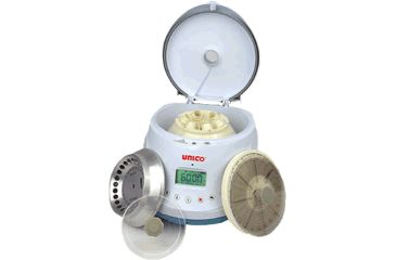 UNICO PowerSpin BX Centrifuge with 6 Place Tube Rotor and 24 Place Microhematocrit Rotor, 220 Volts