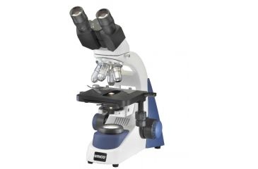 Unico G380-PPL Microscope Binocular WF10X, 4X, 10X, 40XR, 100XR Plan MECH.  Abbe N.A. 1.25 LED Battery Pk. Illumination & carry case G380-PPL