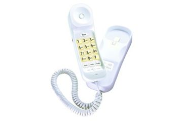 Uniden Slimline Corded Phone, Big Button Design, White CEZ202