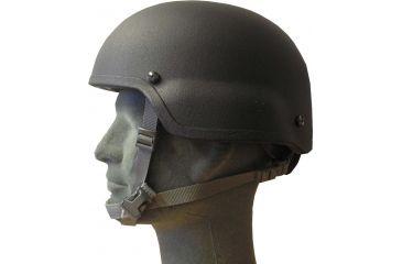 United Shield ACH Ballistic Helmet Level IIIA Military Style Mid Cut w/ 4pt Harness System, Black, Medium ACH-MICH MIL- MID CUT-BK-MD