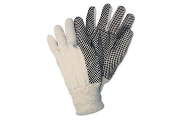 United Stationers Gloves Canvas Nat CRW8808, Unit DZN