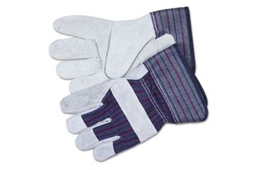 United Stationers Gloves Leathr Palm Med Gy CRW12010M, Unit PR