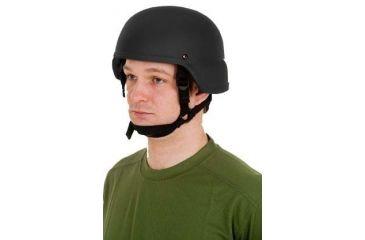 United Shield ACH Ballistic Helmet Level IIIA LE Style w/ 4pt Harness System, Black, XL ACH-MICH LE-BK-XL