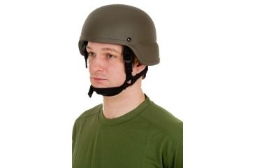 United Shield ACH Ballistic Helmet Level IIIA LE Style w/ 4pt Harness System, OD Green Large ACH-MICH LE-OD-LG