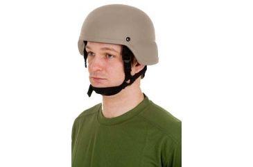 United Shield ACH Ballistic Helmet Level IIIA LE Style w/ 4pt Harness System, Tan Large ACH-MICH LE-TN-LG