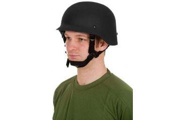 United Shield Command Ballistic Helmet Level IIIA w/ 4pt Harness System, Black, Medium COMMANDO SC650-IIIA-BK-MD