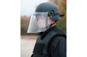 United Shield Command Ballistic Helmet Level IIIA w/ 4pt Harness System and Retrofit Face Shield, Black, Large COMMANDO SC650-RFFS-BK-LG