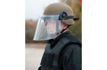 United Shield Command Ballistic Helmet Level IIIA w/ 4pt Harness System and Retrofit Face Shield, Tan, Large COMMANDO SC650-RFFS-TN-LG