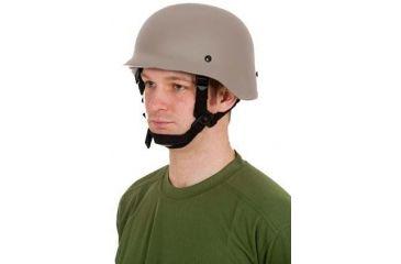 United Shield Command Ballistic Helmet Level IIIA w/ 4pt Harness System, Tan, Large COMMANDO SC650-IIIA-TN-LG