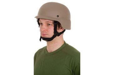 United Shield PASGT Ballistic Helmet Level IIIA w/ 4pt Harness System, Tan, Large PASGT-IIIA-TN-LG