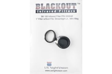 US Night Vision Blackout IR Flashlight Filter BK 100 for Streamlight Jr. 000042