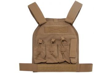 US Palm AR-15 Defender Soft Armor Plate Carrier With Two Level IIIA Soft Armor Panels Large/Standard 10x12.5 Inch Panel Coyote Tan