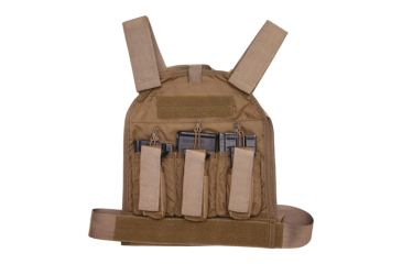US Palm Defender 308 Soft Armor Plate Carrier With Two Level IIIA Soft Armor Panel X-Large 11 X 13.5 Inch Panel Maximum Waist 60 Inches Coyote Tan