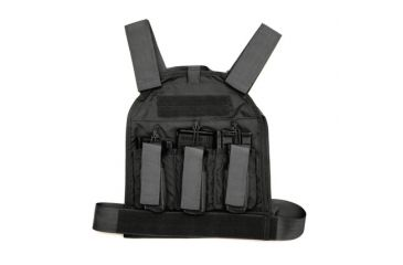 US Palm Defender 308 Soft Armor Plate Carrier With Two Level IIIA Soft Armor Panel X-Large 11 X 13.5 Inch Panel Maximum Waist 60 Inches Black