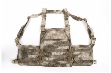 US Palm Desert Tracker Plate Carrier with Armor - MOLLE, ATAC-S AU, Large 030915002998