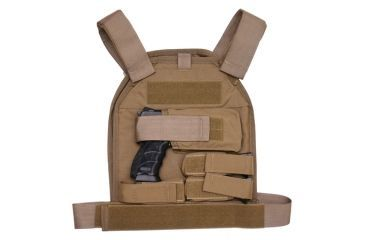 US Palm Handgun Defender Soft Armor Plate Carrier With Two Level IIIA Soft Armor Panels Large/Standard 10x12.5 Inch Panel Right Hand Coyote Tan