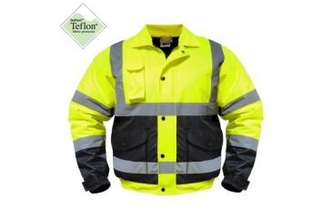 Utility ProWear High Visibility Bomber Jacket Class 3, Yellow/Black Btm, LARGE UHV562-L-YB