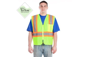 Utility ProWear High Visibility Mesh Vest with Contrast Stripes Class 2, Lime, LARGE UHV315-L-Y