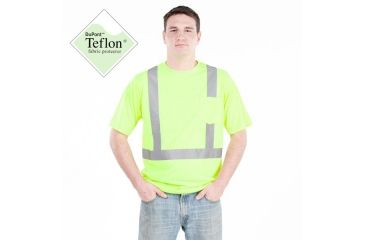 Utility ProWear High Visibility S/S Pocket T Shirt Class 2, Yellow, XLARGE UHV301-XL-Y