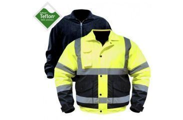 Utility ProWear High Visibility Bomber Jacket w/zip out liner Class 3, YLW, MEDIUM UHV563-M-Y