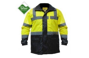 Utility ProWear High Visibility Parka Jacket Class 3, YELLOW, MEDIUM UHV1004-M-Y
