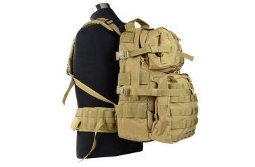 J-Tech Gear D-2 A+ Assault Backpack, Coyote Tan PA01-0502-0A CM