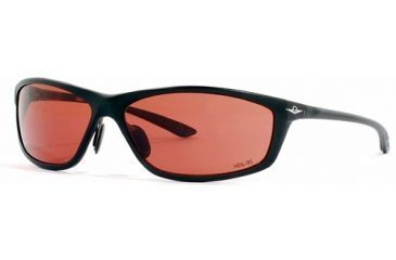 Vedalohd Milano Sunglasses, Black Aluminum Frame, Copper-Rose Lenses 8014
