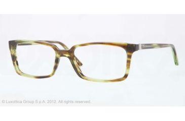 Versace CHARLTON VE3174 Single Vision Prescription Eyeglasses 5047-53 - Striped Green Trasp Frame, Demo Lens Lenses