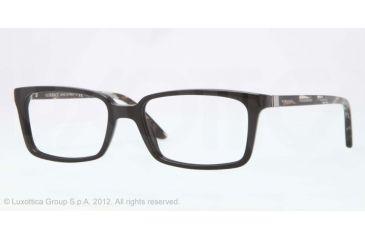 Versace CHARLTON VE3174 Single Vision Prescription Eyeglasses GB1-53 - Black Frame, Demo Lens Lenses