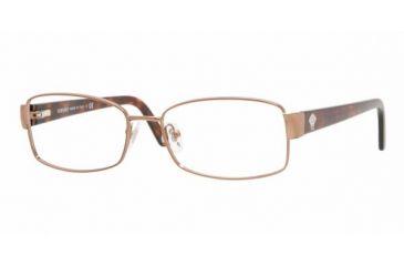 Versace VE 1177 Eyeglasses Styles -  Brown Frame w/Non-Rx 52 mm Diameter Lenses, 1045-5216