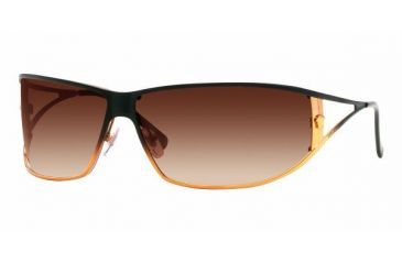 Versace VE 2040 Sunglasses Styles Black And Light Brown Frame / Brown Gradient Lenses, 116613-7409