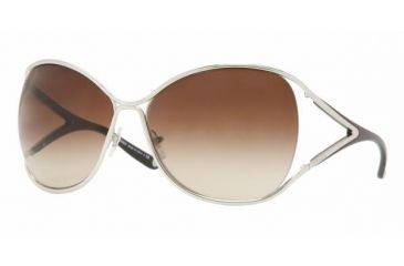 Versace VE 2111 Sunglasses Styles Silver Frame / Brown Gradient Lenses, 100013-6316