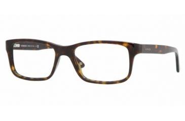 Versace VE 3134 Eyeglasses Styles - Dark Havana Frame w/Non-Rx 55 mm Diameter Lenses, 108-5517