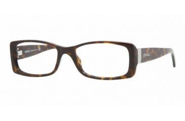 Versace VE 3138 Eyeglasses Styles -  Dark Havana Frame w/Non-Rx 51 mm Diameter Lenses, 108-5116