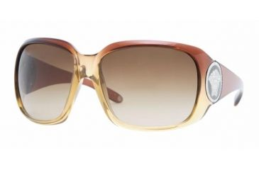 Versace VE 4161B Sunglasses Styles Brown Grad. On Brown Transp. Frame / Brown Gradient Lenses, 831-13-6316