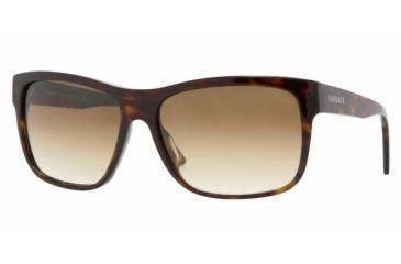 2942241e33c Versace VE 4179 Sunglasses Styles - Dark Havana Frame   Crystal Brown  Gradient Lenses