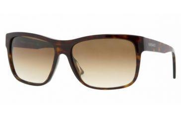 2942241e33c Versace VE 4179 Sunglasses Styles - Dark Havana Frame   Crystal Brown  Gradient Lenses